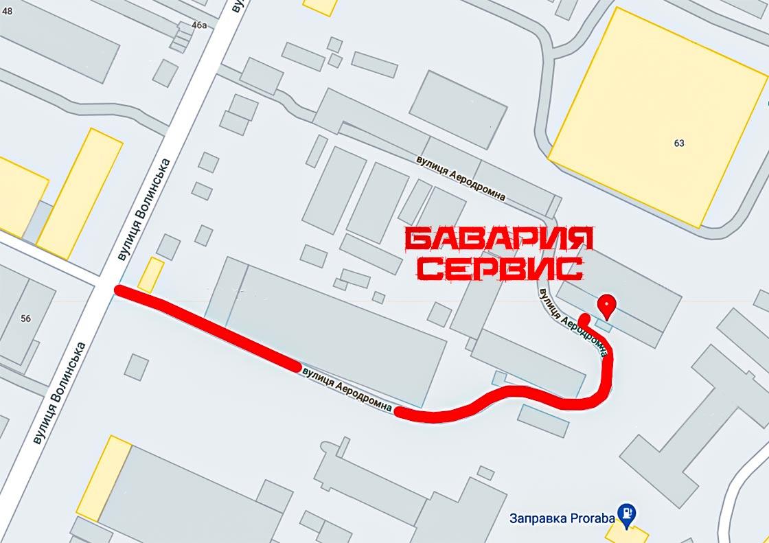 Контакты Бавария Сервис схема заезда